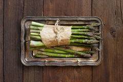 Bundle of fresh asparagus spears Stock Images