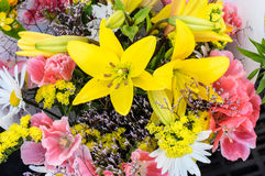 Bundle of fresh flowers at the market Stock Photos