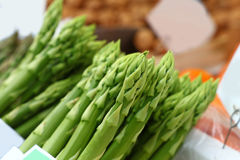 Bundle of fresh green asparagus close up Royalty Free Stock Image