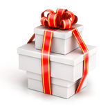 Bundle gift boxes Stock Images