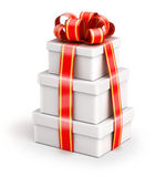 Bundle gift boxes Royalty Free Stock Photos