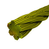Bundle of gold wires 3d model Stock Image