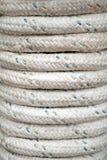Bundle of gray marine rope Stock Photos