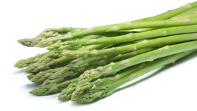 Bundle of green asparagus, paths Stock Photo