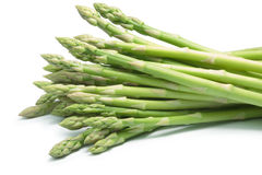 Bundle of green asparagus, paths Royalty Free Stock Photo
