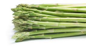 Bundle of green asparagus, paths Royalty Free Stock Photography
