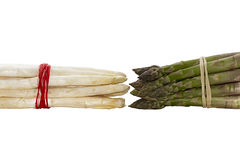 Bundle green and white asparagus Royalty Free Stock Photos