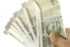 A bunch of Indian Rupees Stock Photography