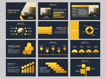 Bundle infographic elements presentation template. business annual report, brochure, leaflet, advertising flyer,. Corporate marketing banner Stock Image