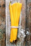 Bundle of Italian spahgetti pasta Stock Image