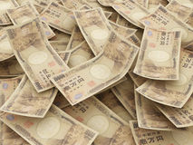 Bundle of Japanese Yen notes.  Pile of 10000 Yen Stock Photos
