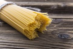 Bundle of long spaghetti Royalty Free Stock Photo