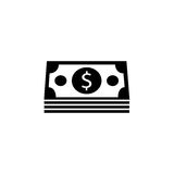 Bundle of money coin solid icon, finance business. Bundle of money coin solid icon, finance and business, dollars sign vector graphics, a filled pattern on a Stock Photography