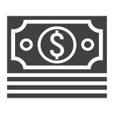 Bundle of money glyph icon, business and finance Royalty Free Stock Photo