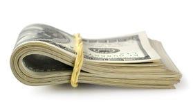 Bundle of money isolated royalty free stock image