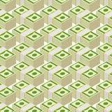 Bundle money seamless pattern.  Cash dollars,  background. Royalty Free Stock Image