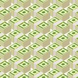 Bundle money seamless pattern.  Cash dollars,  background. Royalty Free Stock Image