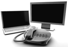 A bundle of net tv and fix phone Royalty Free Stock Photos