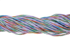 Bundle of network cables Stock Photography