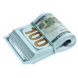 Bundle of new dollars Stock Photo