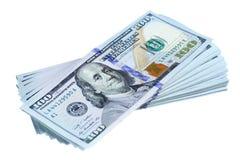 Bundle of new dollars Stock Image