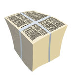 Bundle newspapers. Stack of magazines. Vector illustration Royalty Free Stock Photos
