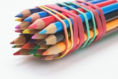 Free Bundle Of Color Pencils Stock Image - 21675651