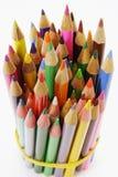 Bundle Of Color Pencils Stock Photos