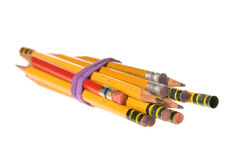 Bundle of old pencils Royalty Free Stock Images