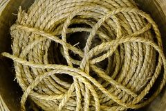 Bundle of Old Straw Rope Royalty Free Stock Photo