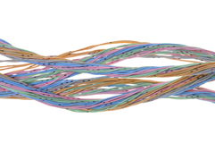 Bundle of pastel cables Royalty Free Stock Photos