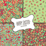 Bundle of patterns from colorful Easter eggs Stock Photography