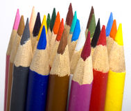 Bundle of Pencil Crayons Stock Photography
