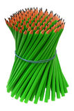 Bundle pencils tied with an elastic band Stock Images