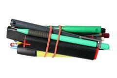Bundle of Pens Royalty Free Stock Photos