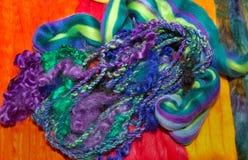 Bundle of plaited woven wool fibers Stock Photography