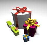 Bundle of presents Royalty Free Stock Images