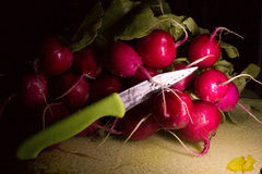 Bundle radishes Stock Photo