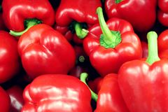 Bundle of Red Peppers stock images