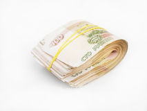 Bundle of Russian banknotes Royalty Free Stock Image