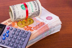 Bundle of Russian money Royalty Free Stock Images