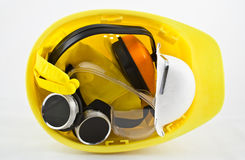 Bundle of safety equipment Stock Images