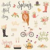 Bundle/set of Spring icons Royalty Free Stock Image