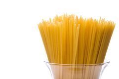 A bundle of spaghetti in a jar Royalty Free Stock Images