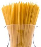 A bundle of spaghetti in a jar Stock Photography