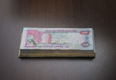 Bundle of uae dirham note. Stock Images