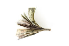 Bundle of US bills Stock Image