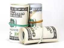 Bundle of US 100 dollars bank notes Royalty Free Stock Photos
