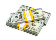 Bundle of 100 US dollars 2013 edition banknotes Royalty Free Stock Images