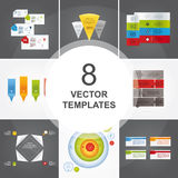 Bundle of vector templates. Stock Photography